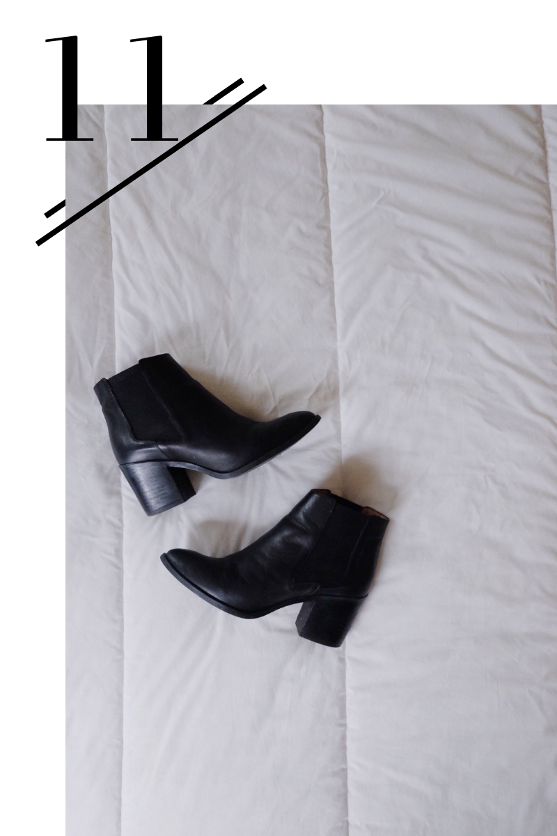 Heeled Boots - I always need a good heeled option in my wardrobe rotation to feel like myself. These are water resistant too - perfection!(Find them here.)