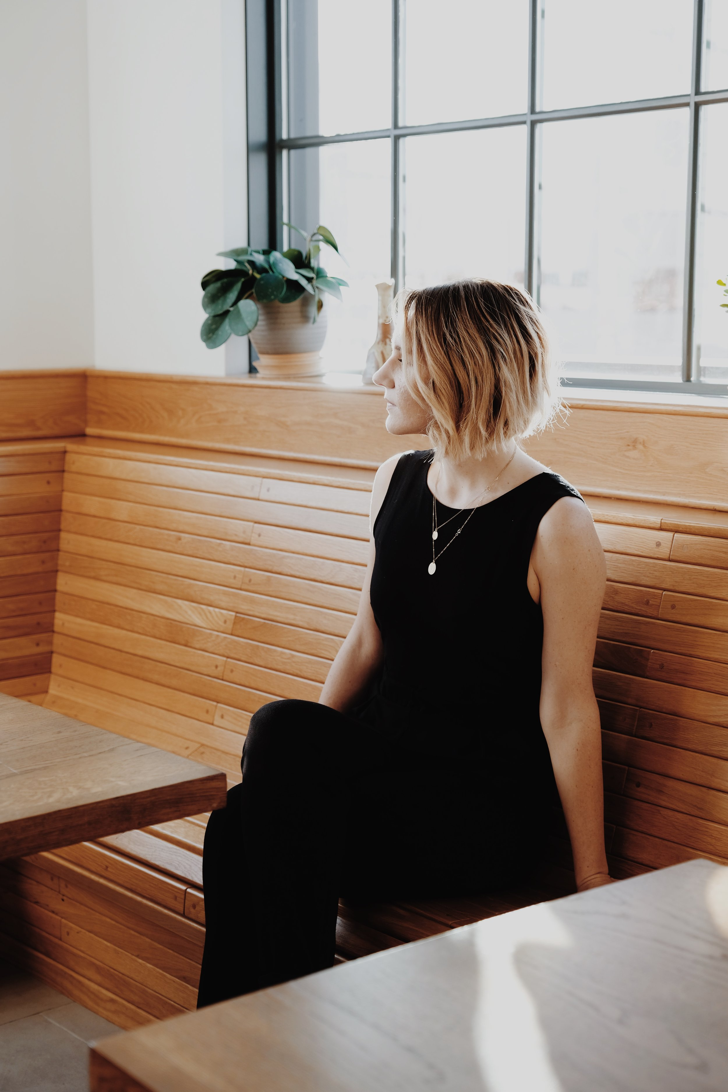 Comfortable ethically made black jumpsuit