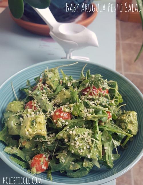 Baby Arugula Pesto Salad