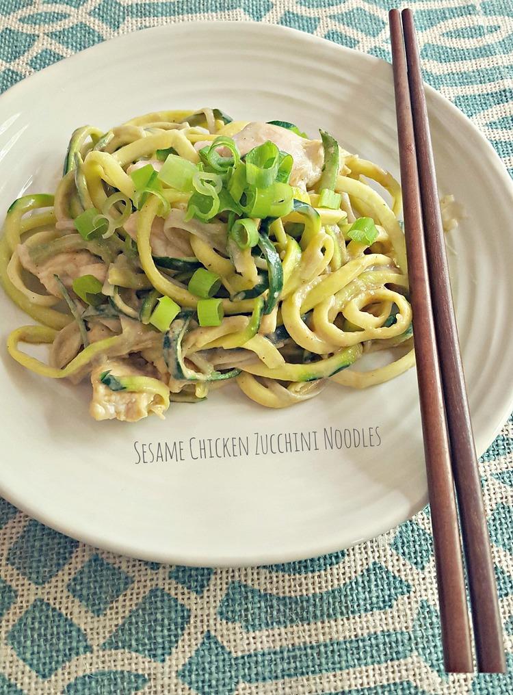 Sesame Chicken Zucchini Noodles