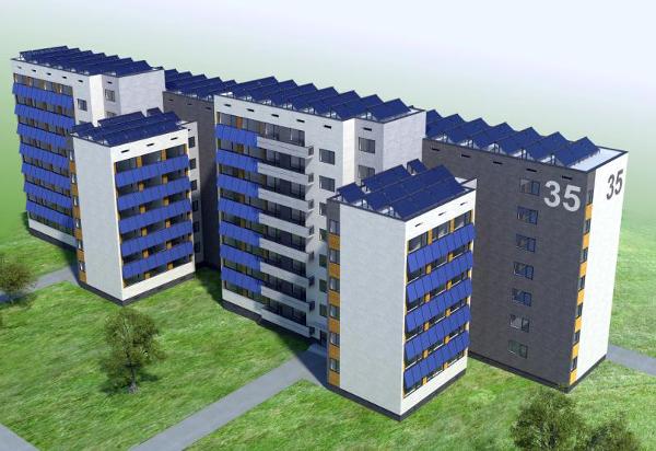 Блок 35 в Студентски град, София.