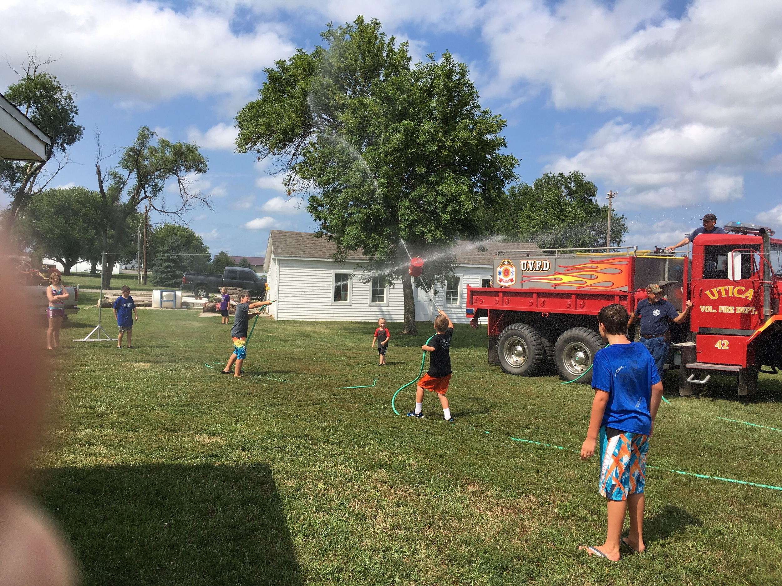 The water fights hosted by the Utica VFD