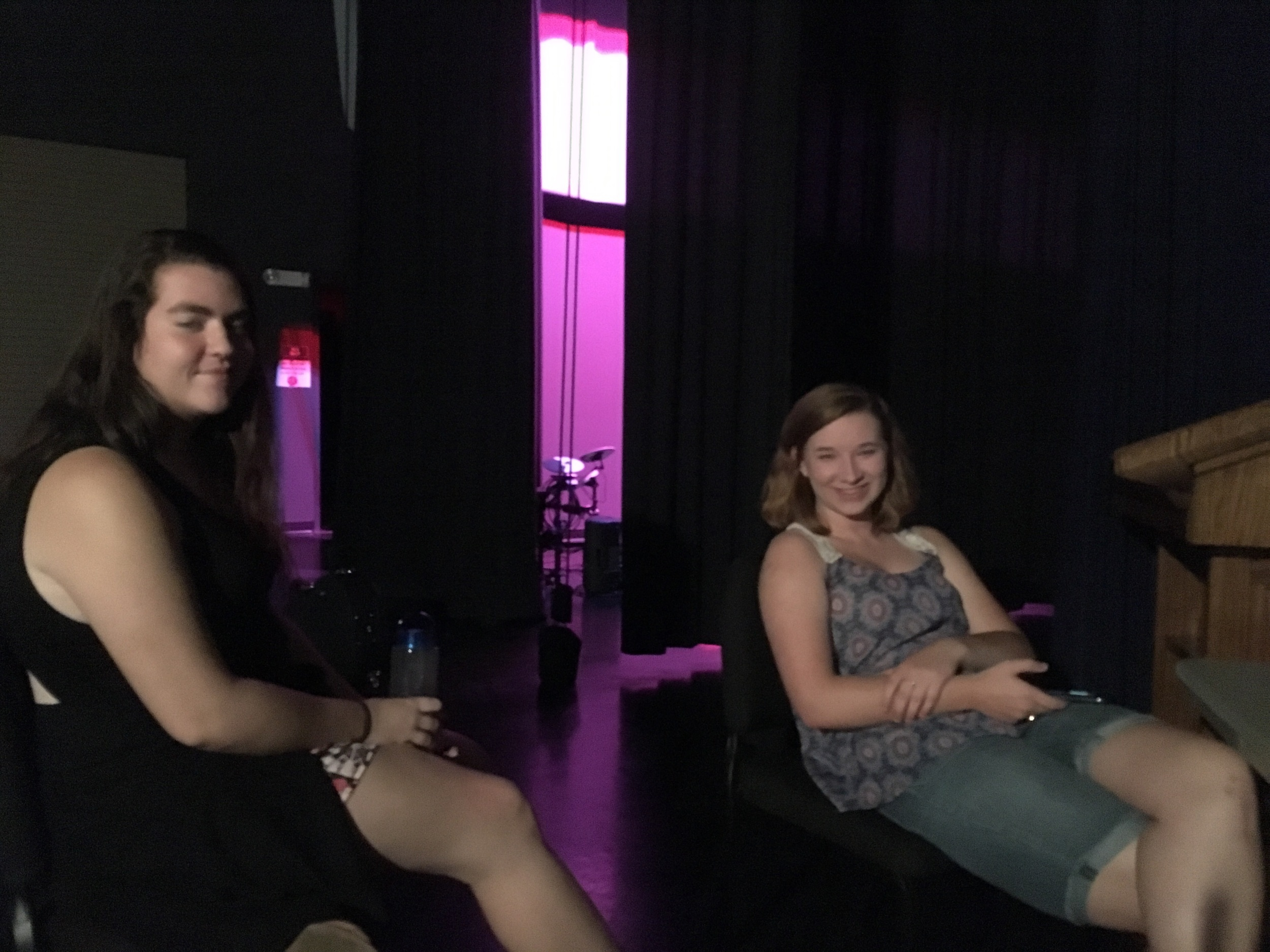 Backstage with Rebecca and Becky. I'm going to miss them when they go.