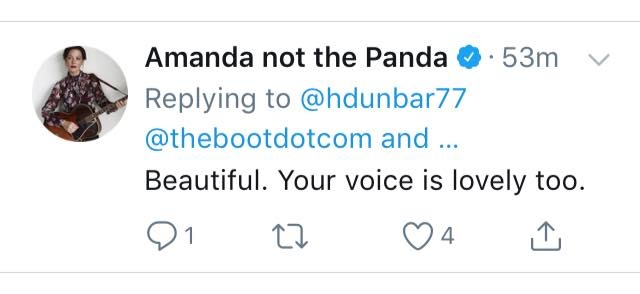 This has nothing to do with anything except for that one time Amanda Shires listened to me sing her song thanks to a spot in an online magazine.