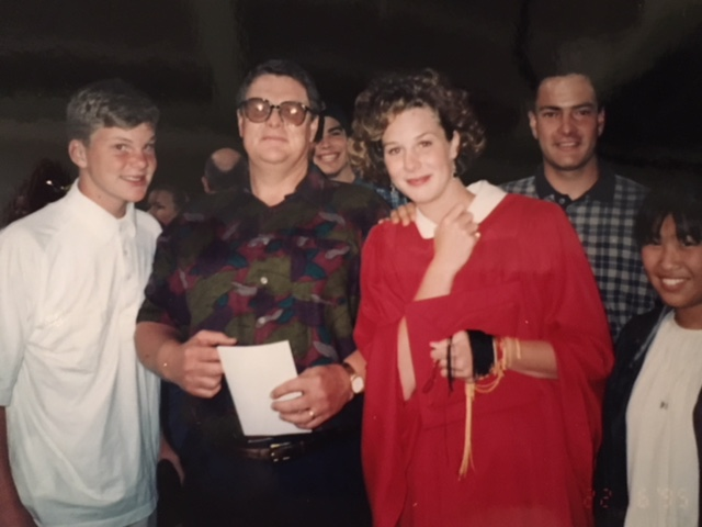 MVHS Class of 1995. Billy, Dad, me, Matt, Ryoko (AFS, Japan)