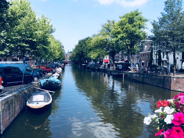 A Canal in Amsterdam July 2018