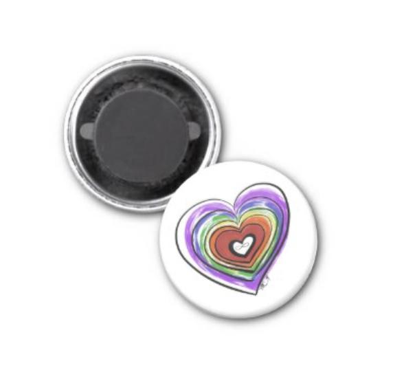 Spectrum Pride Heart Fridge Magnet