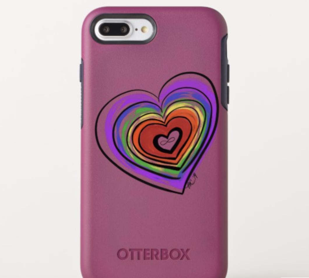 Spectrum Pride Heart Otterbox iPhone 7/8 Plus Case