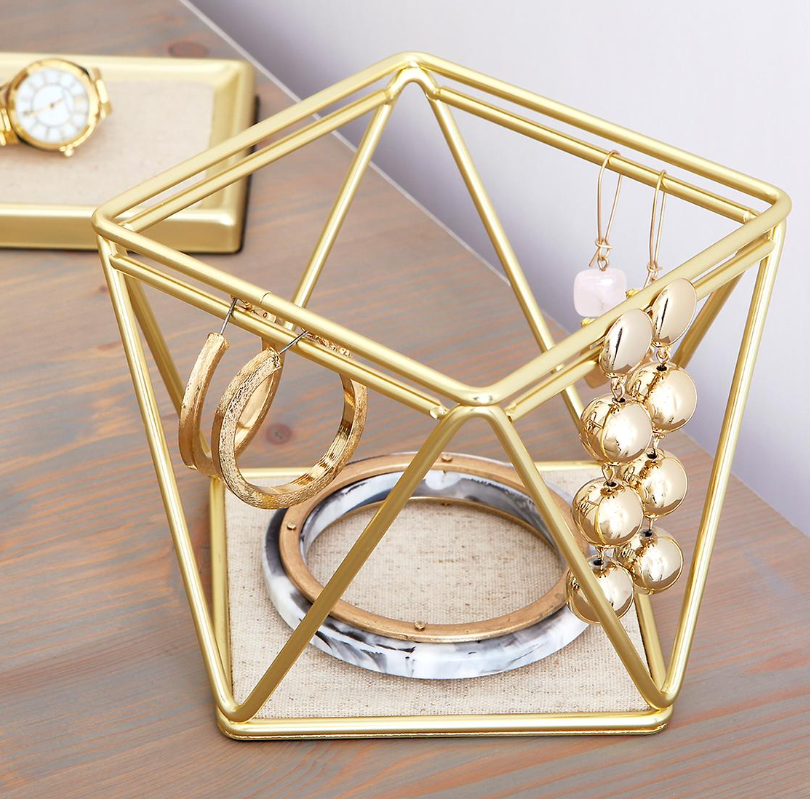Umbra Gold Prisma Bracelet and Earring Holder - Container Store