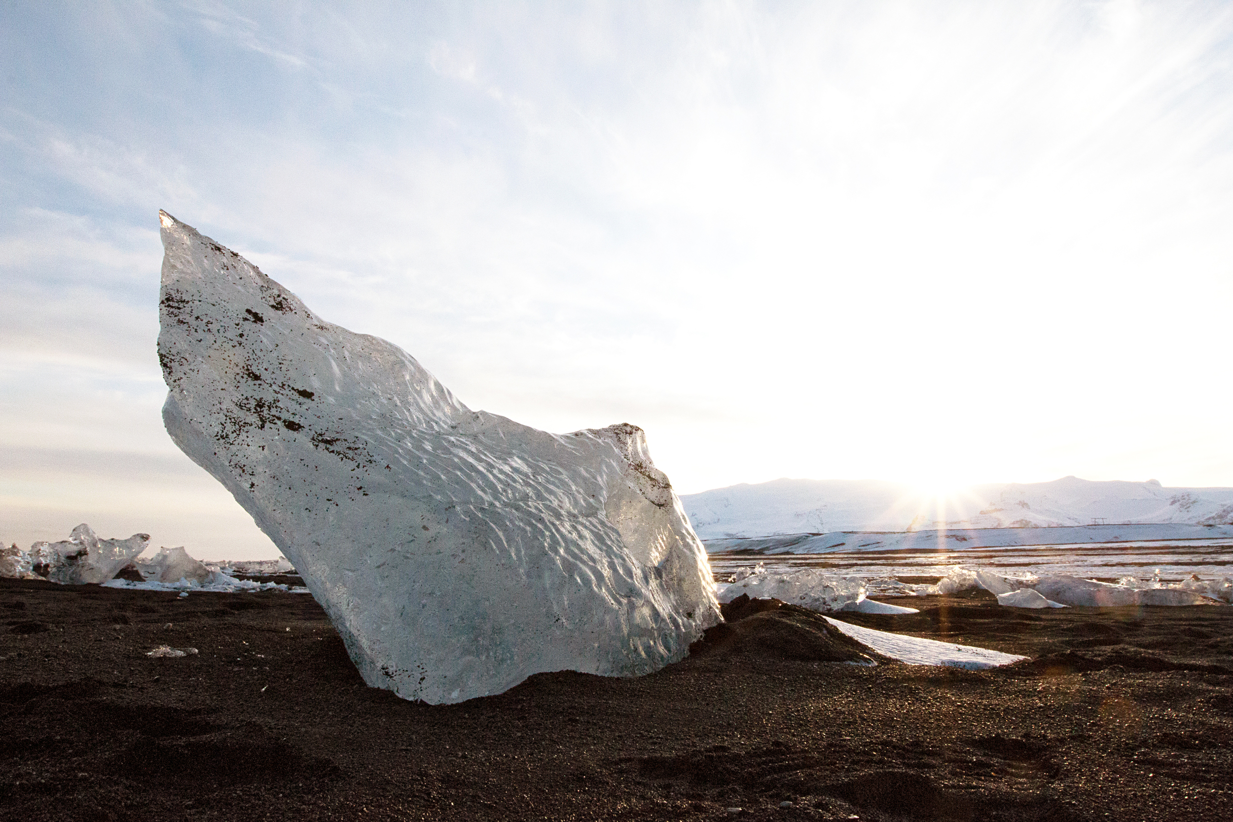 Glacier Beach near Jökulsárlón