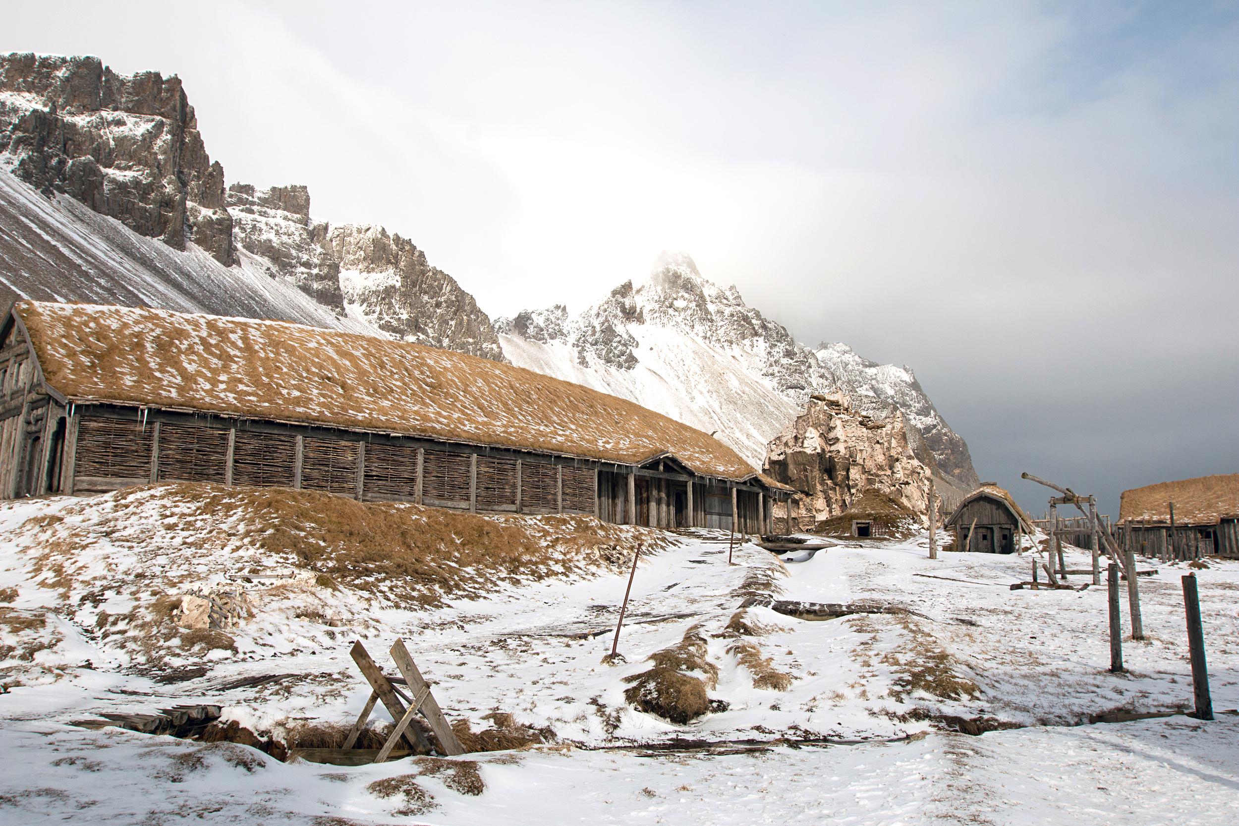 Viking Movie Set near Stokksnes
