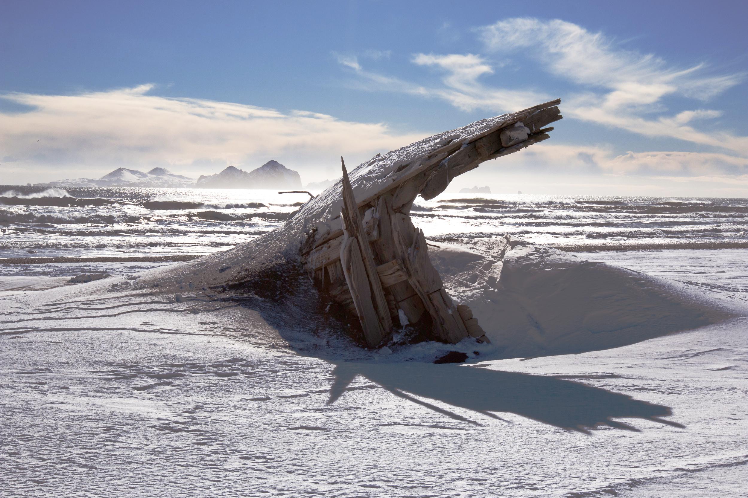 Shipwreck on Landeyjahöfn Beach