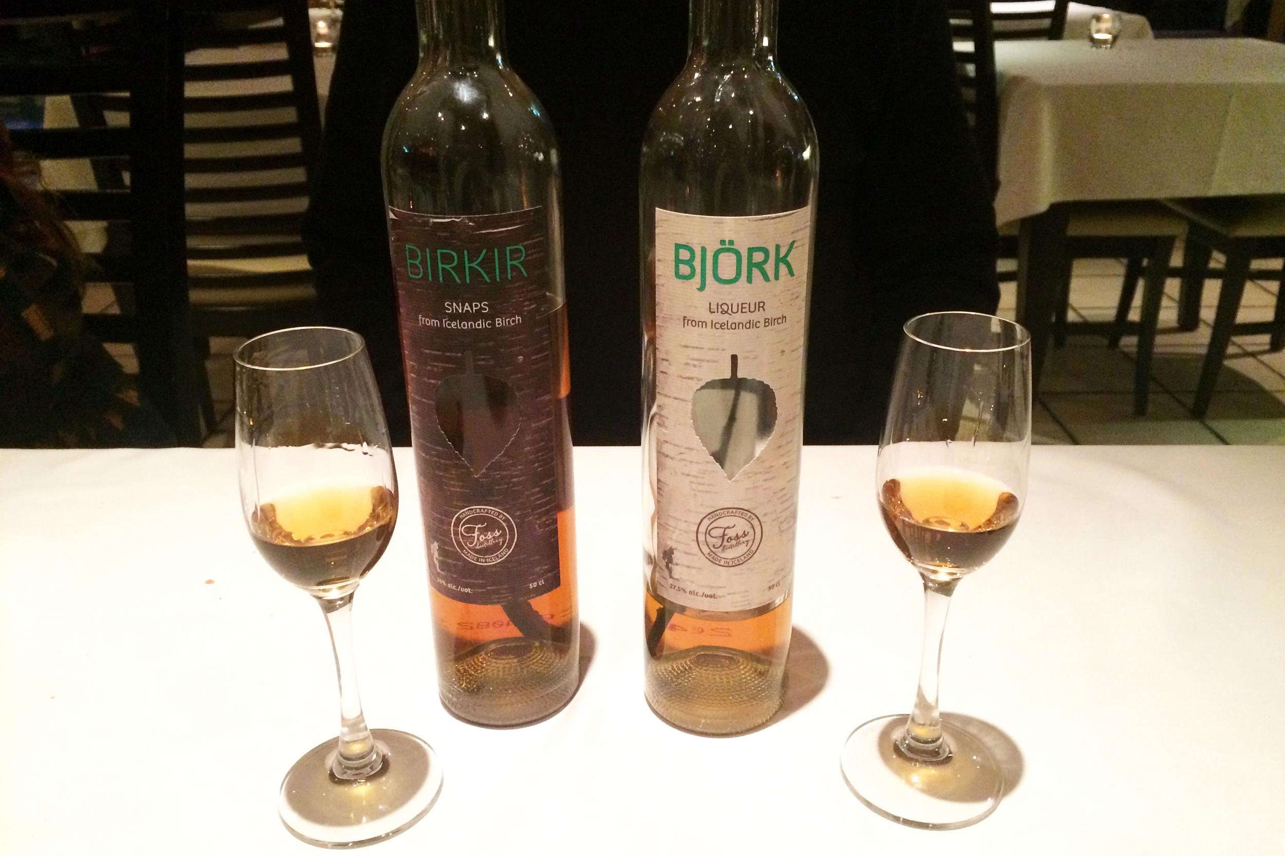 Birkir & Bjork birch-infused liquors
