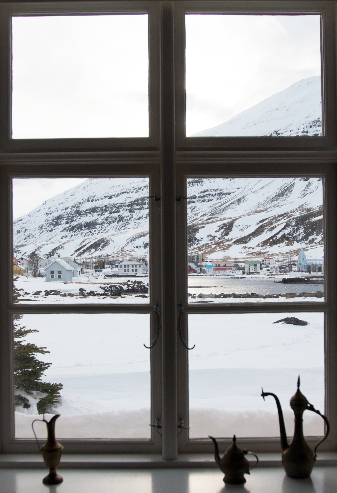 View from our room at Lónsleira Apartments