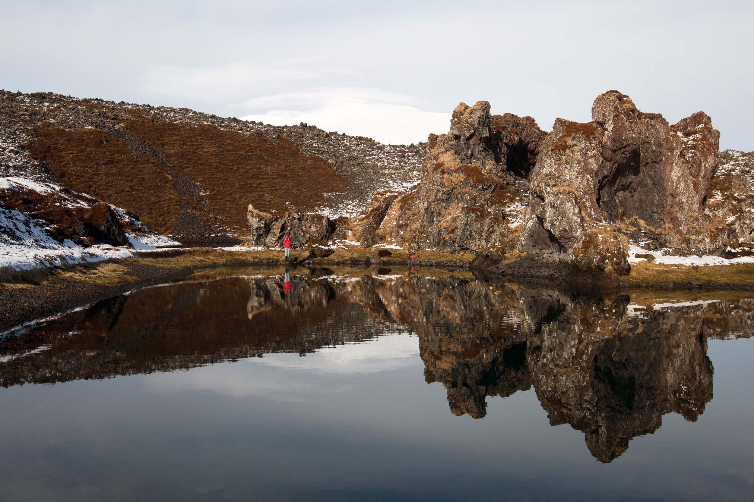 Dritvík with Snaefellsjokull in the background
