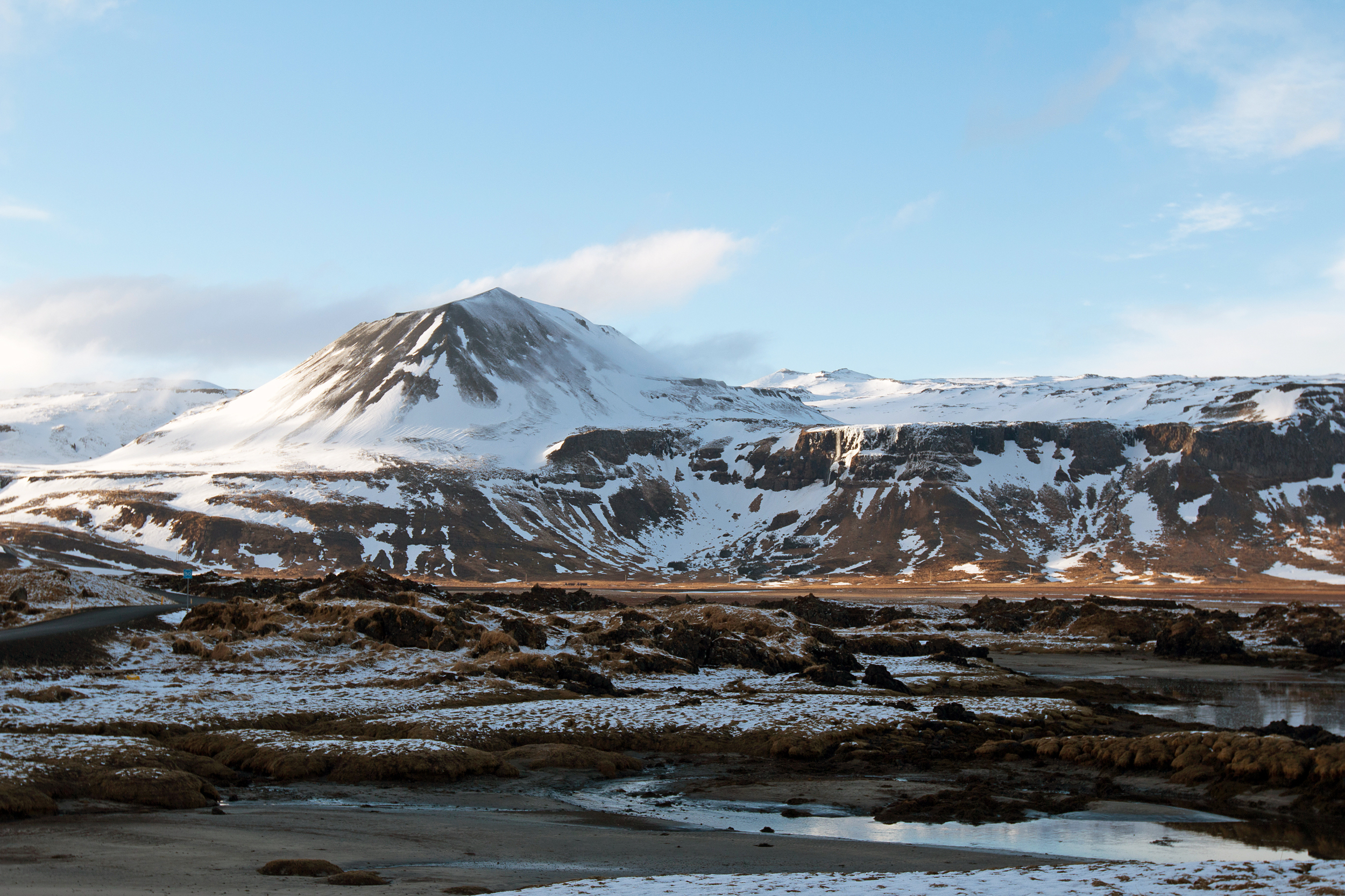 The view from Room #1 at Hotel Búðir.