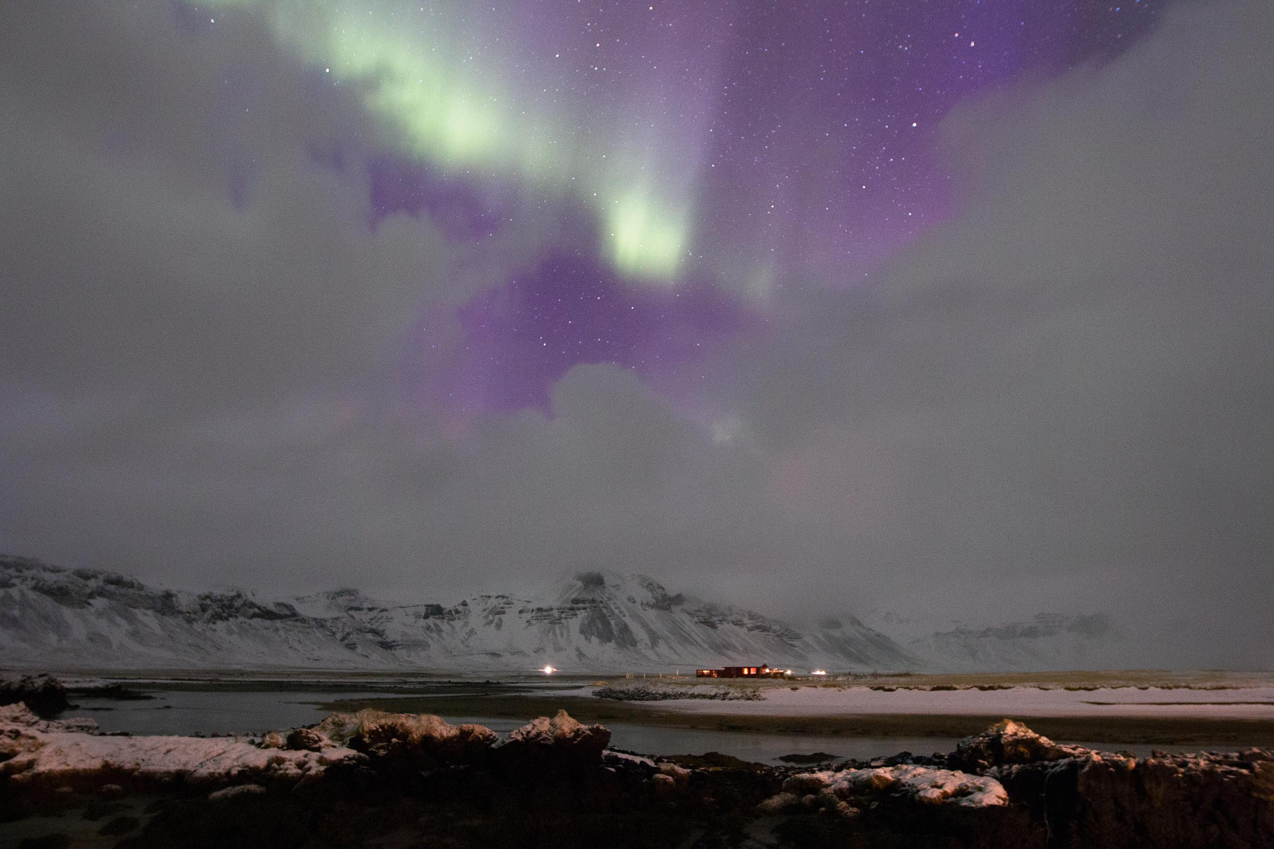 Northern Lights over Búðir