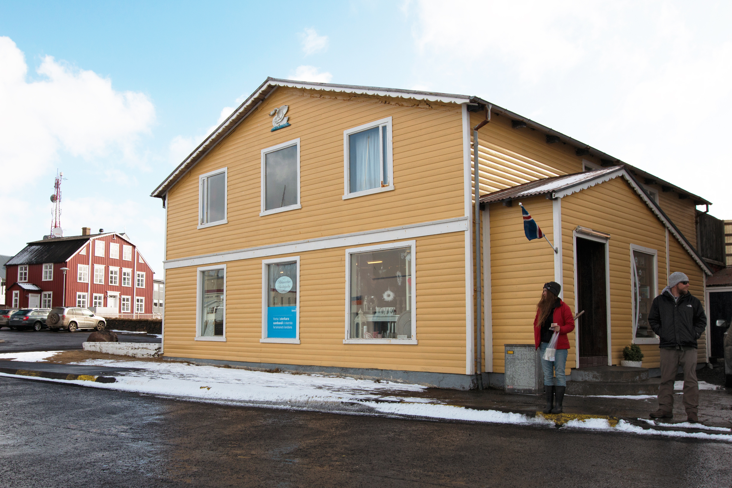 """This shop in Stykkishólmur served as the karaoke bar in """"The Secret Life of Walter Mitty"""" where Kristin Wiig sings Space Oddity to Ben Stiller as he jumps into a departing helicopter."""