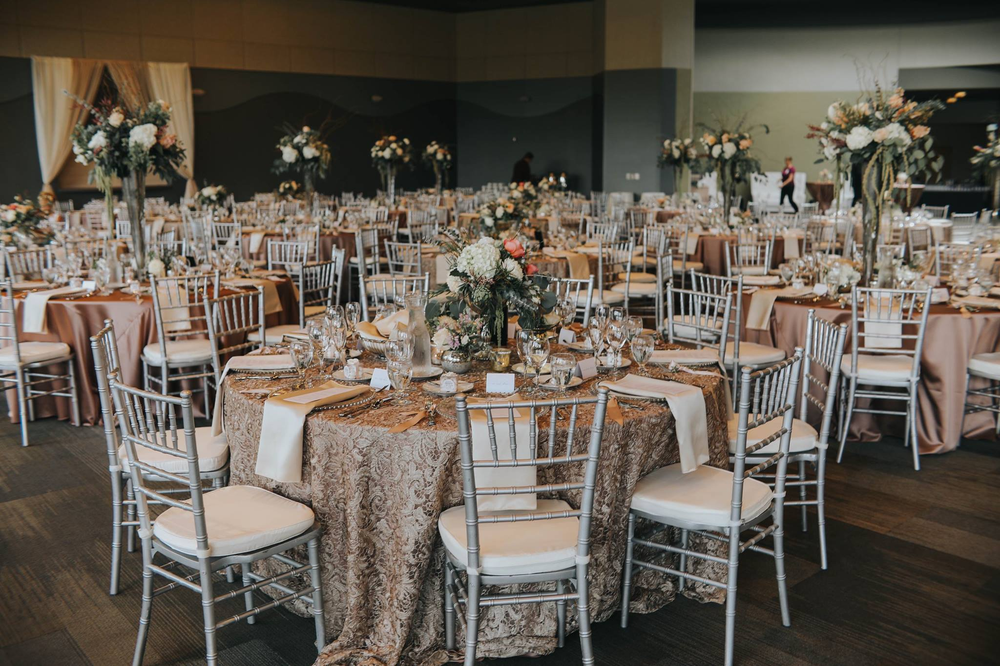 Reception Management - Keep vendors & guests on scheduleDistribute final payments and gratuities to vendorsPrevent and fix any problems that may arise during the eventCollect gifts and personal itemsCoordinate formal send-offEnsure room design is set up accordingly, complete as needed