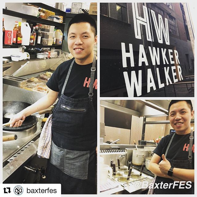 #Repost @baxterfes with @get_repost ・・・ Popped in to see how Ken is doing in his new kitchen @hawkerwalker fitted out with a @b_scommercialkitchens double wok and noodle cooker. Thumbs up!