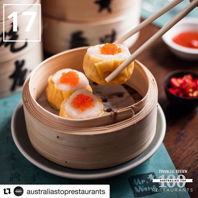 Congratulations to our client Mr Wong on a great achievement 👏👏 #Repost @australiastoprestaurants with @get_repost ・・・ Congratulations to Mr. Wong on ranking 17th in the 2018 Australia's Top Restaurant Awards, presented by @financialreview. #ATR2018 @merivale