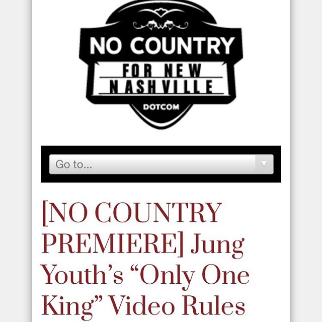 👑head over to the frontpage of @nocountrynash to see the @worldfamousgrantclaire directed lyric video for Only One King👑 link in bio 👁thanks to everyone involved! Love y'all