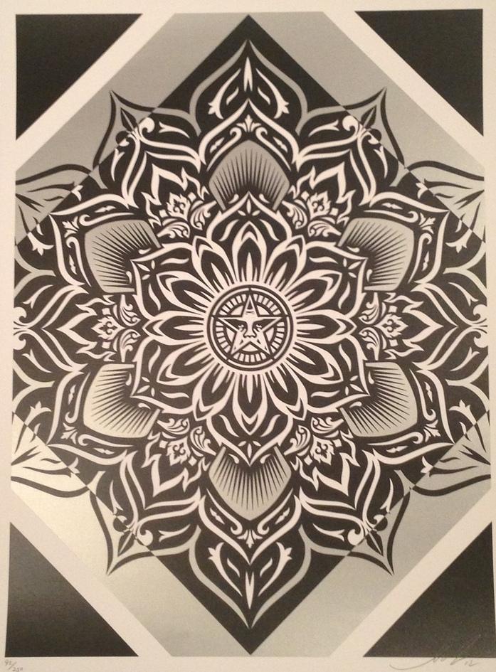 SHEPARD FAIREY  |  Lotus Diamond - Silver