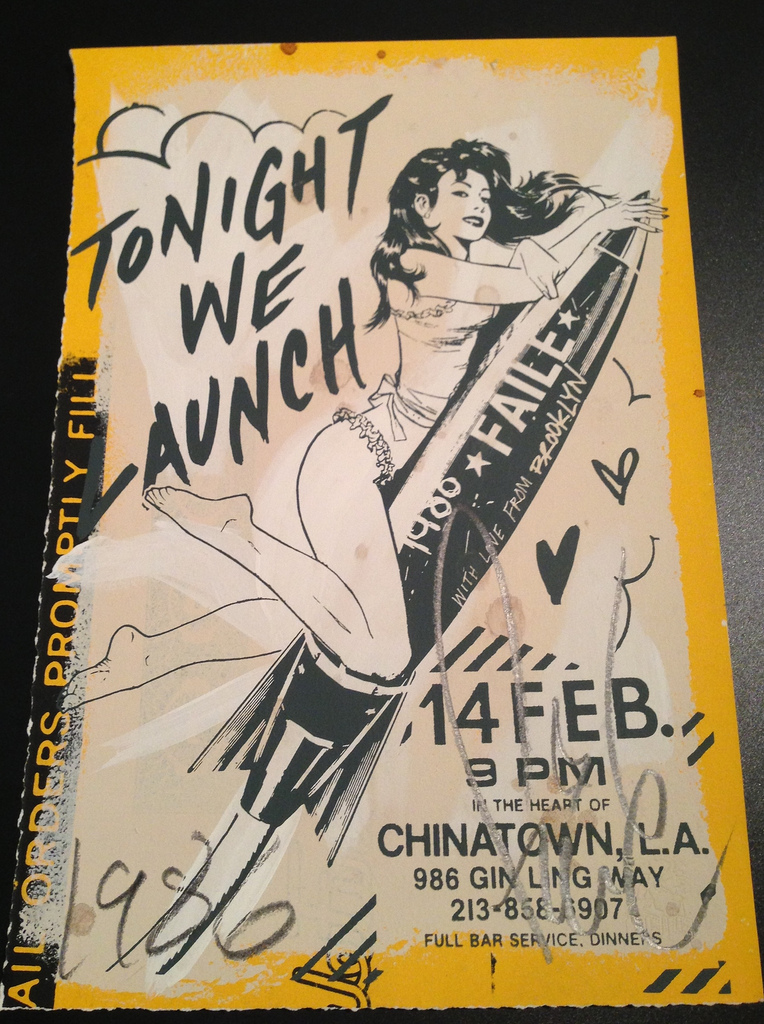 FAILE  |  Tonight We Launch   Acrylic and Silkscreen | Edition: 100 | 12.5 x 19 |Signed and Numbered on Reverse