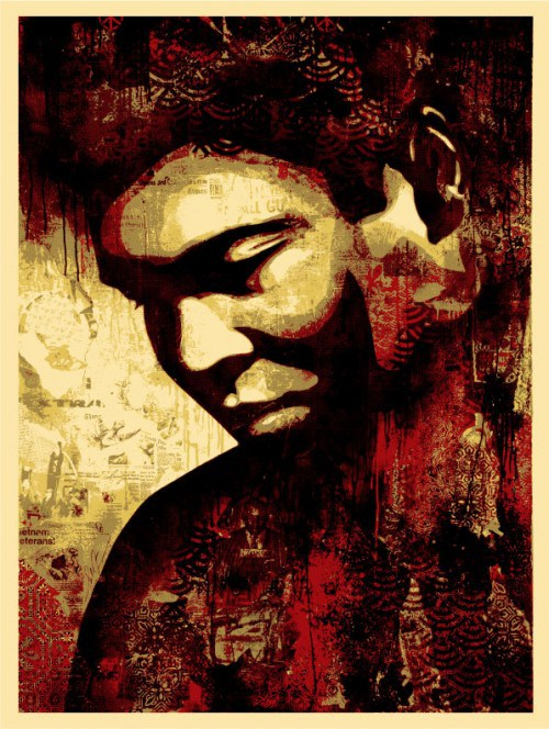 SHEPARD FAIREY  |  All - Canvas   Silkscreen | edition: 450 | 18 x 24 | Signed and Numbered