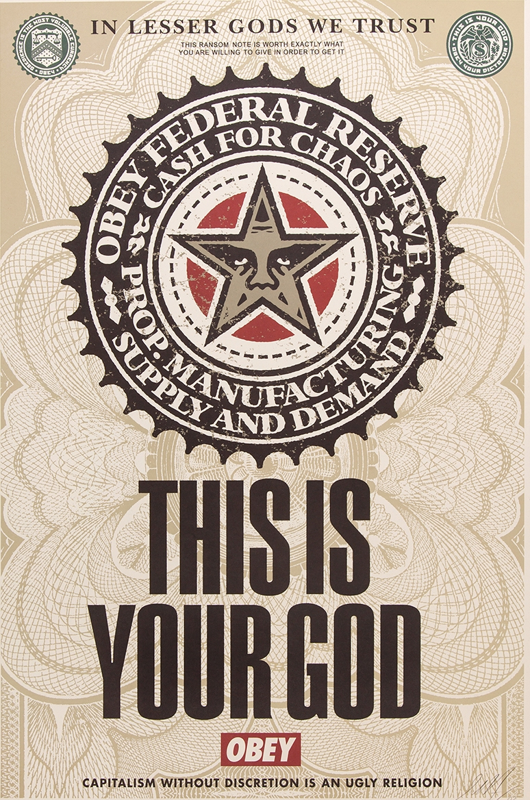 SHEPARD FAIREY  |  This is Your God   Offset Lithograph | 18 x 24 | Signed and Numbered