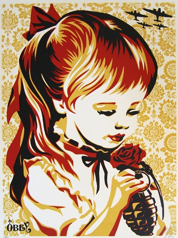SHEPARD FAIREY  |  War By Numbers (gold)   Silkscreen | Edition: 300 | 18 x 24 | Signed and Numbered