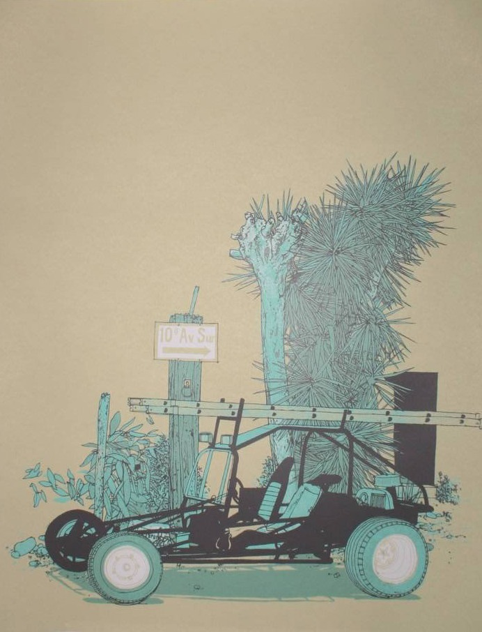 EVAN HECOX   Buggy   Silkscreen   Edition: 100   16 x 20   Signed and Numbered
