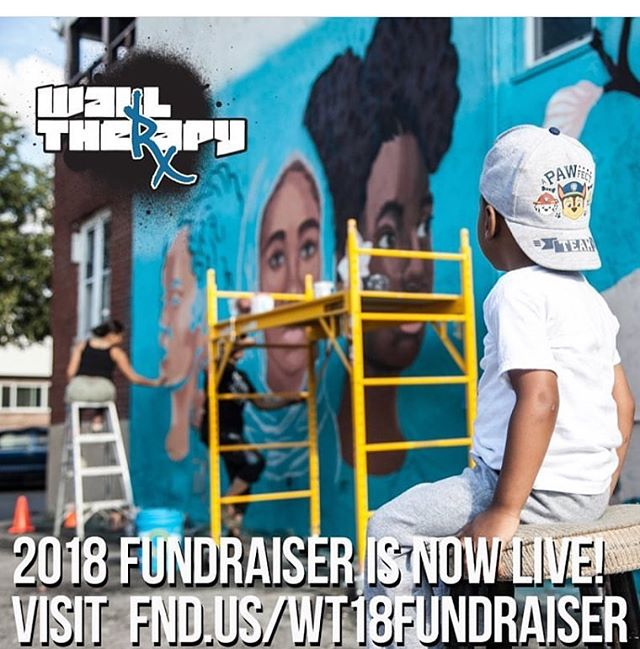 #walltherapy is pleased to announce our 2018 fundraiser! With your help, we'll continue our long-running program blending arts and activism in the #rochester community. This year, our artists will be exploring the concept of Representation and what it means to them.  Many thanks to our previous muralists who continue to support our mission by donating their artwork and designs to offer as perks! Take a moment to look view perks by @afrancey_lhmf @shawneehill @faringpurth @handiedan @AM_nyc @masiori @sean9lugo @lamorena_art (with more offerings from  @jlperry1972 @iankualii @ chngrus_63 @aubreyroemer and more coming soon!) Thank you in advance for your support! @walltherapyny 2018 will happen July 20-29, 2018.  http://fnd.us/WT18fundraiser 📷 @lisabeebopper of 2017's @rocpaintdivision crew at work.