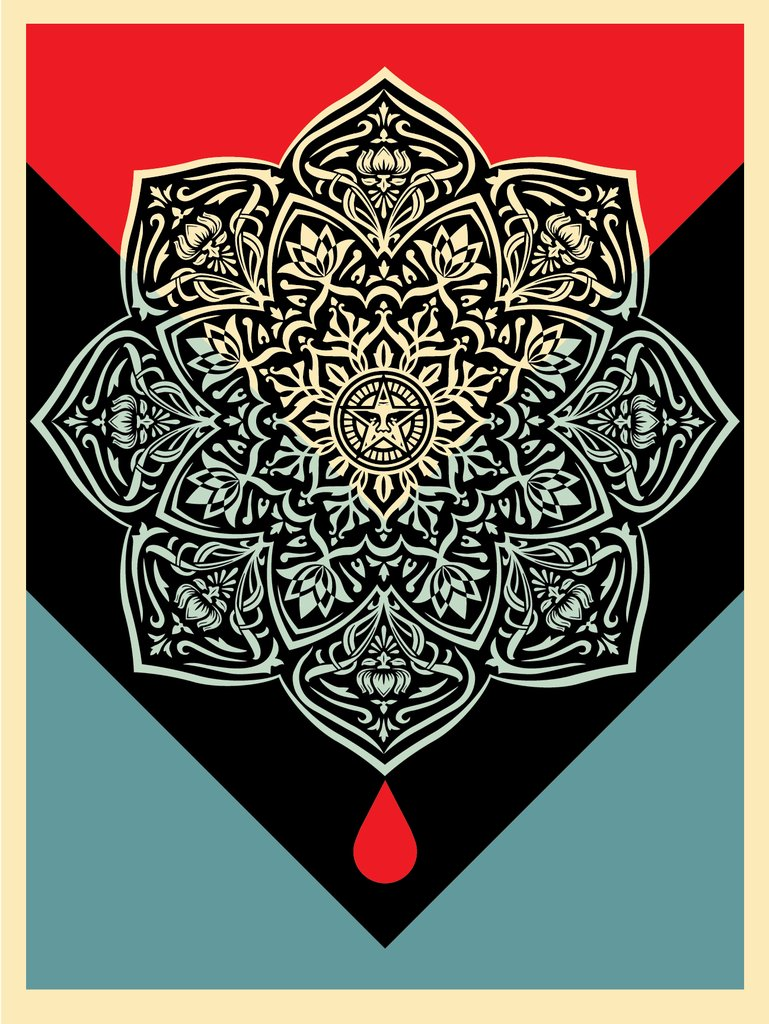 Shepard Fairey - Blood and Oil Mandala 3.jpg