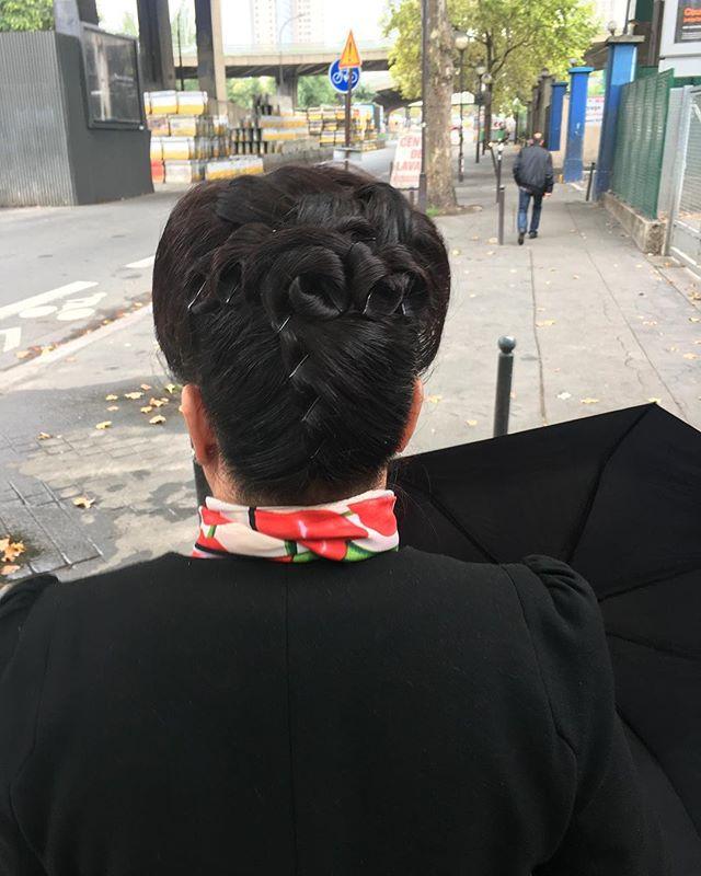 #Paris #pompidu #hair #capelli #updo #coolhair #美容室#美容院 #longhair #style  #peinado #updos #cabello #pelo #recojidos #recojido #nostradamus #HERHAIRTRAVEL