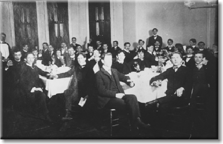 The Brethren at the first ever Banquet In 1901.