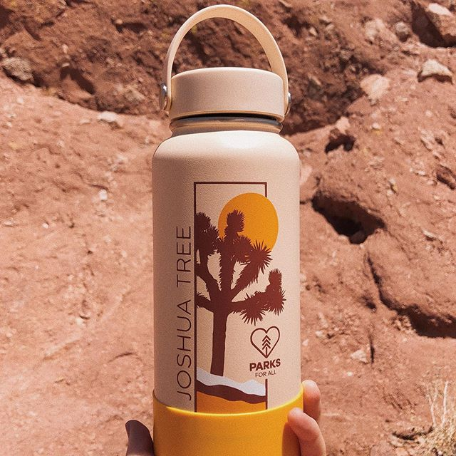 Just sharing something that makes me happy cause life's too short not to. 🙌🏻 Hydroflask made a reusable water bottle in honor of Joshua Tree + proceeds go to the National Park Foundation + it's my new favorite thing. So freakin cool.