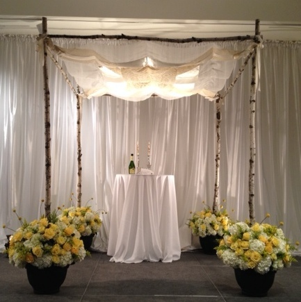 Chuppah - lace and silk