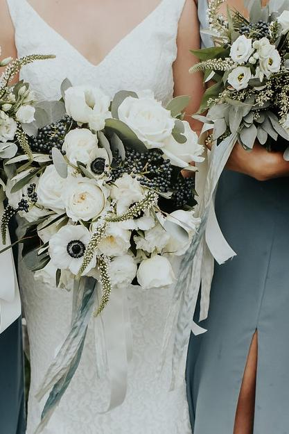 Rainy Day Wedding at Botanical Gardens