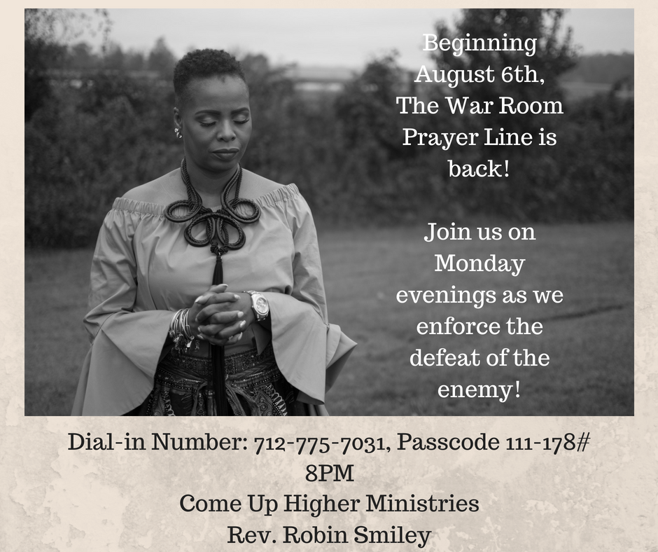 The War Room Prayer Line is back!Join us on Monday evenings as we enforce the defeat of the enemy!.png