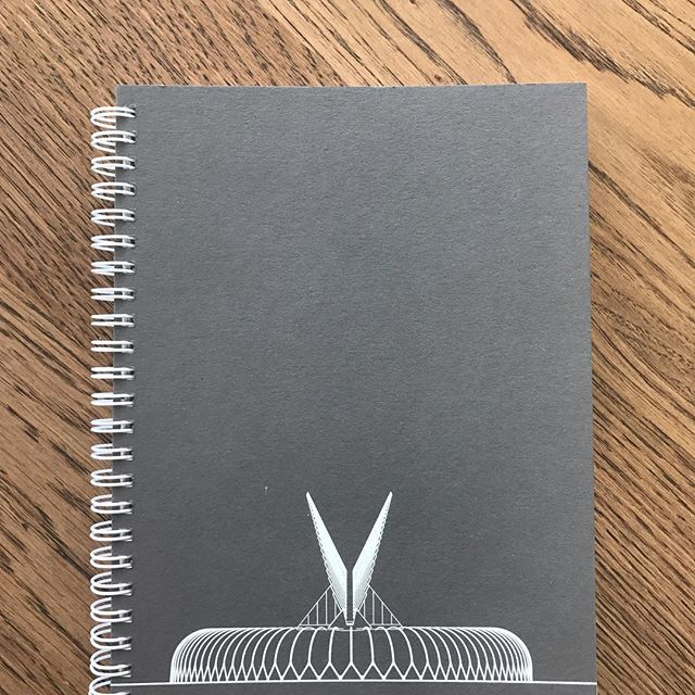 Christmas gift?Architecture inspired sketchbook. See profile for Etsy store address or message me. #calatrava #floridapolytechnicuniversity #design #sketchbook #silkscreen #bulletjournal