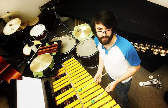 Exceptet's very own @markutleyyy has many sticks. #newmusic #percussion #mark #nyc #music #art #media #picoftheday