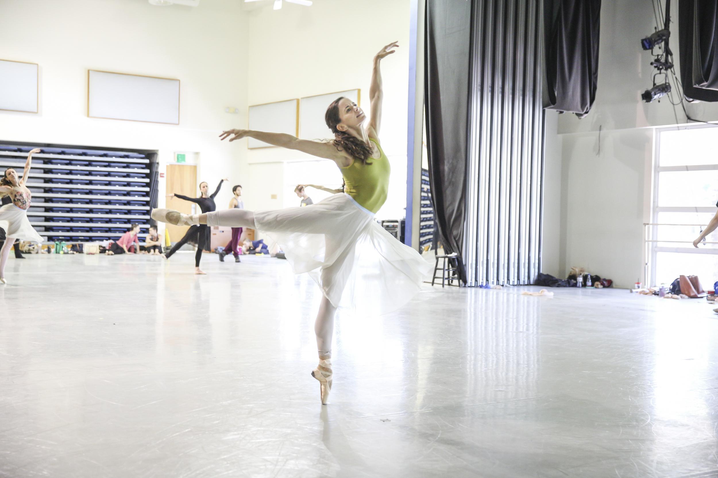 MIAMI CITY BALLET DANCER EMILY BROMBERG REHEARSING   A MIDSUMMER NIGHT'S DREAM |  PHOTOGRAPH BY DANIEL   AZOULAY