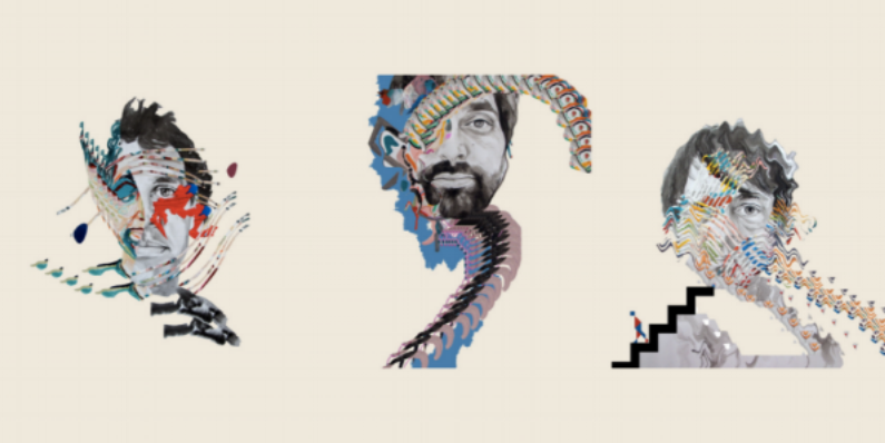 Painting With Album covers | courtesy animal collective
