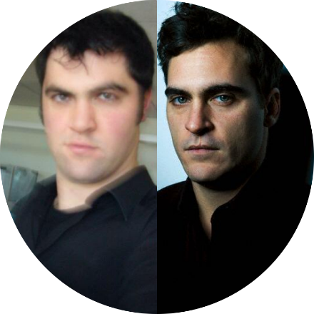 "On the right:  Joaquin Phoenix  On the left:  Me  The skinny:  I had another stroke of bad luck in 2004, when Jonathan Russell was looking for a leading man to star in his flick about firefighters, ""Ladder 49."" Again, an actor with dark features and great eyes was needed. Again, I fell short of getting my chance. Enter: Joaquin Phoenix."