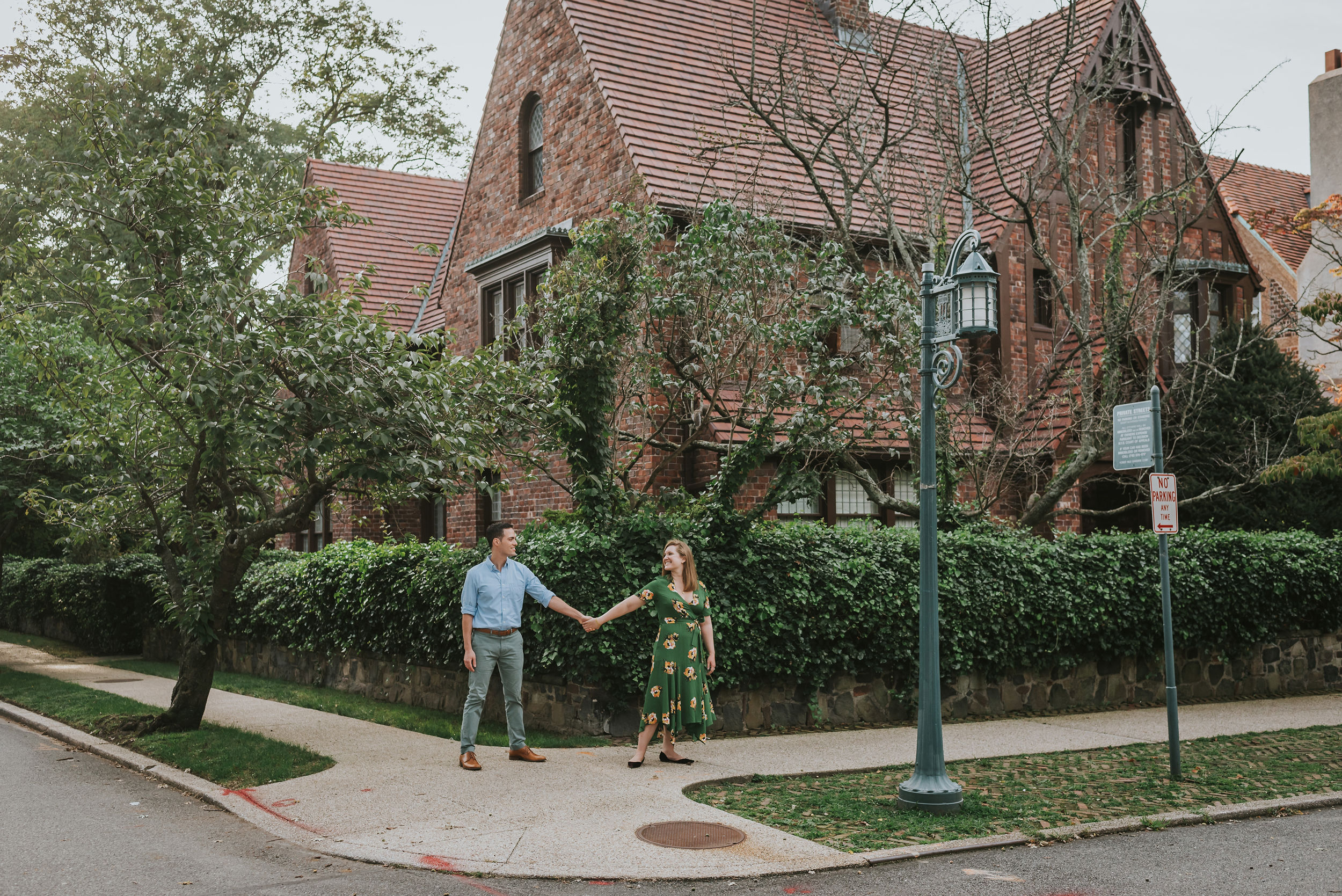 Abigail and Andrew Forest Hills Gardens Engagement NYC 01.jpg
