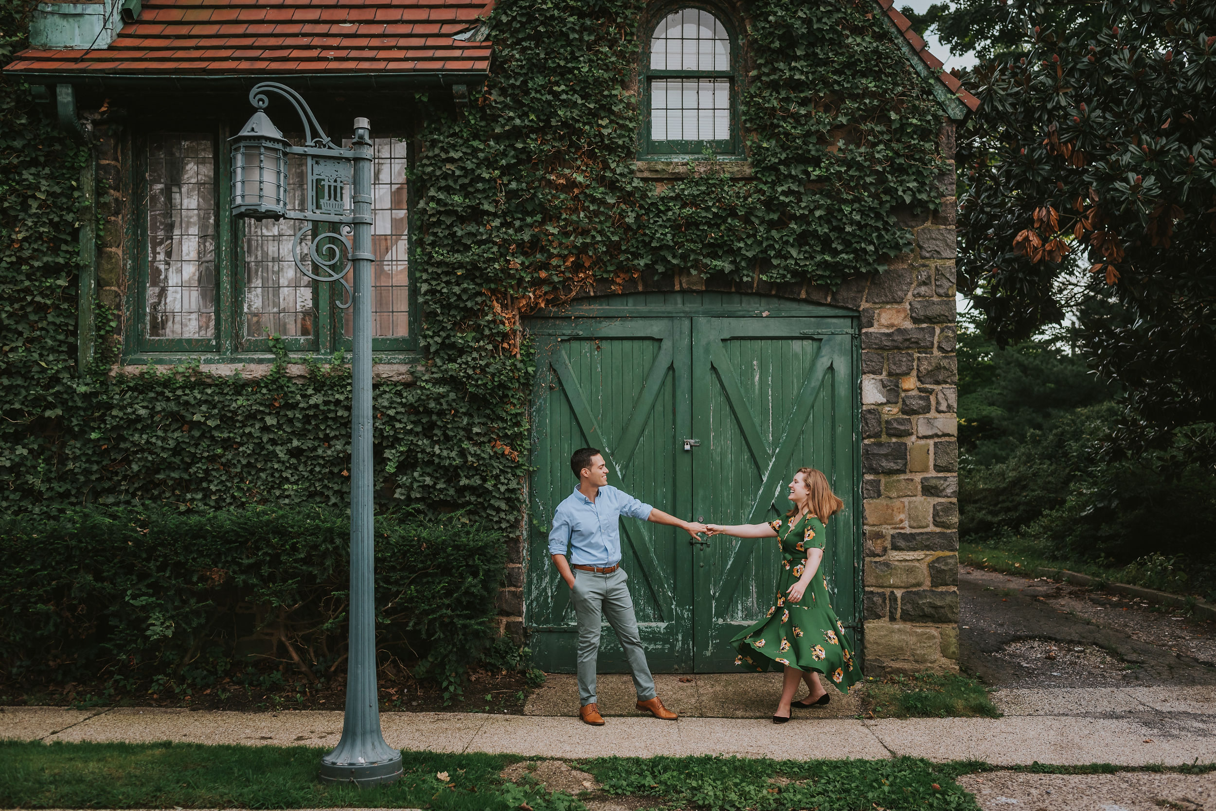 Abigail and Andrew Forest Hills Gardens Engagement NYC 06.jpg