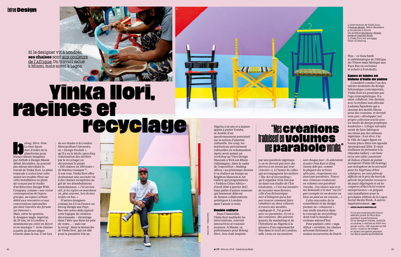 Next Liberation Magazine - January 2016    Lifestyle & product photography for Yinka Ilori
