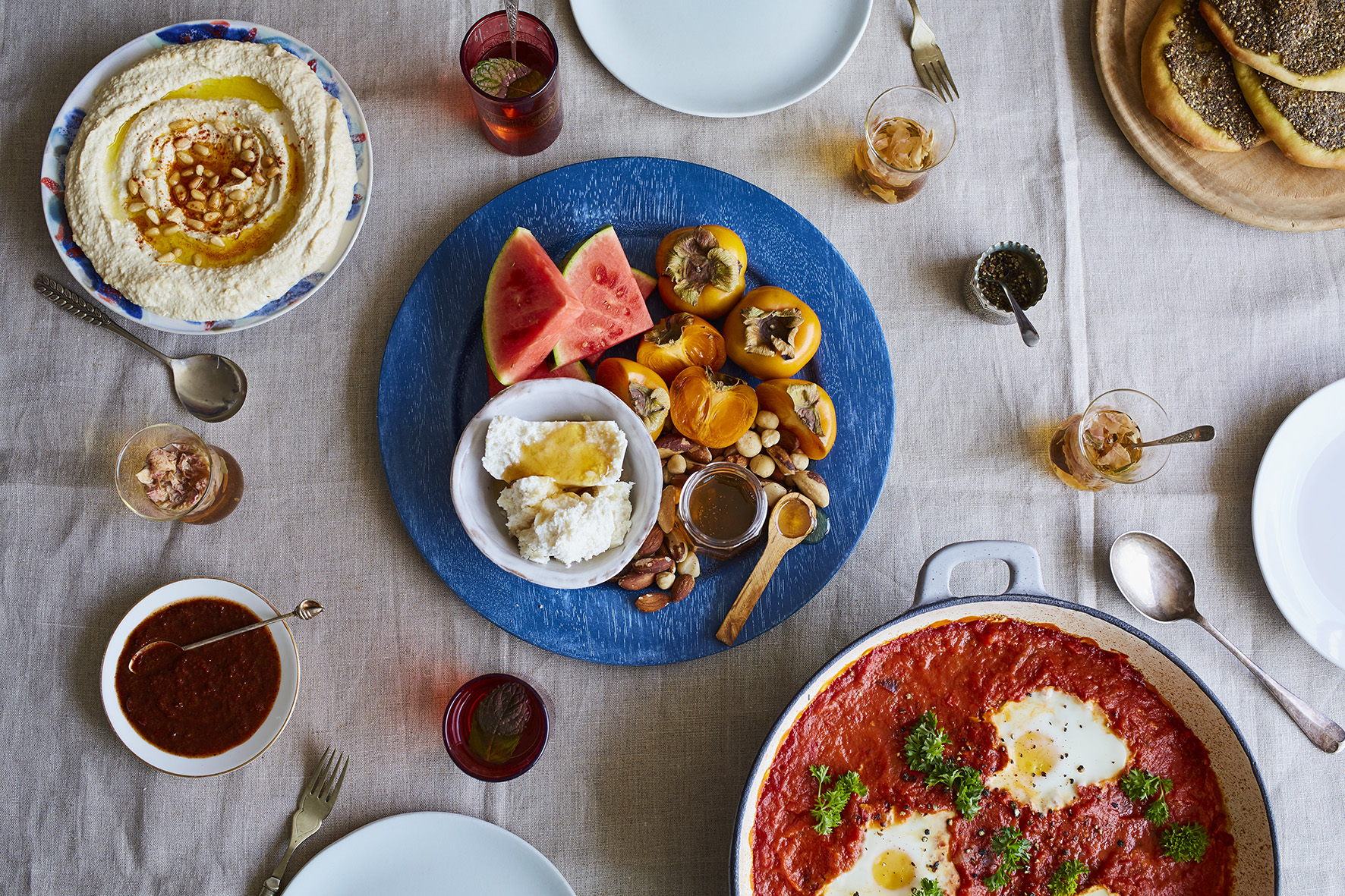 Middle Eastern Breakfast Table