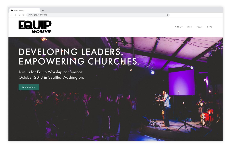 Equip Worship  - Branding & Website